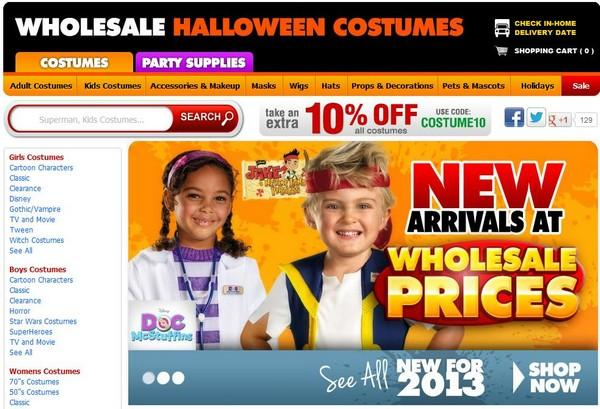 $25 Off Wholesale Halloween Costumes Promo Codes - February 2018